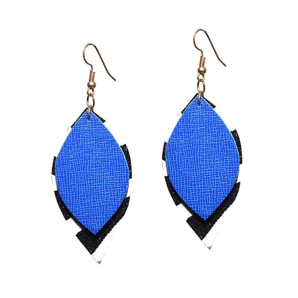 Blue Leaf earring
