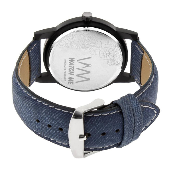 Blue Leather Strap With Multi-Colour Dial Watch for Kids