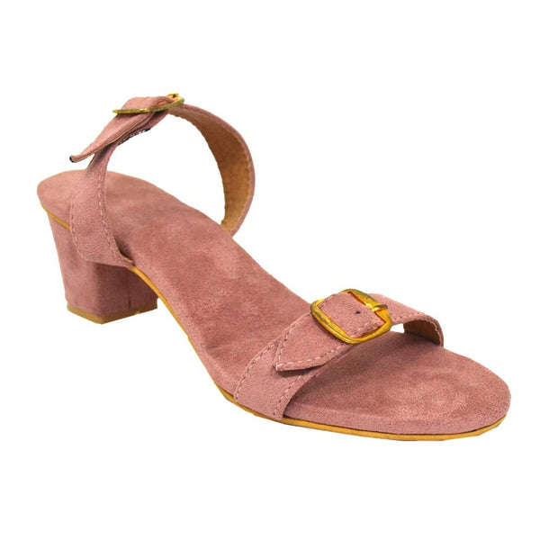 Blush Pink Heels Buckle Footwear