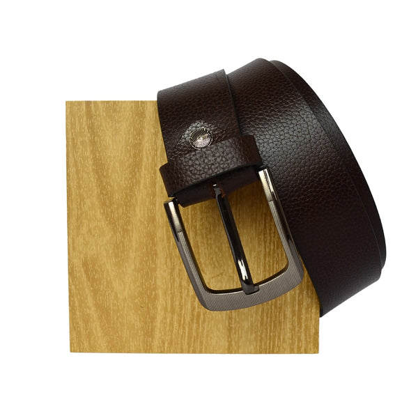 Brown Leather  Textured Belt