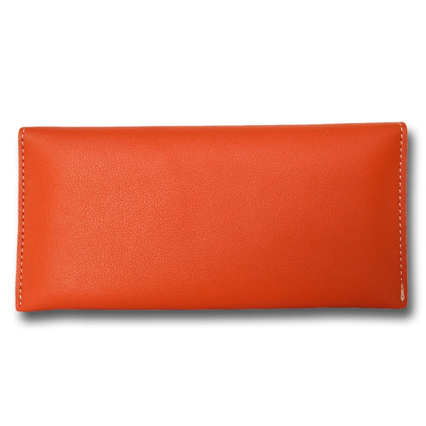 Orange Leather Women's Wallet