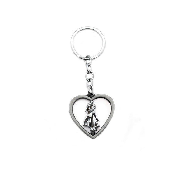 Couple heart metal keychain/ Keyring for gift