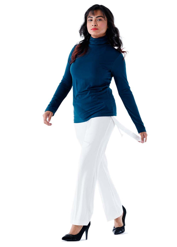 Premium Stretch Formal Trousers - White - 106