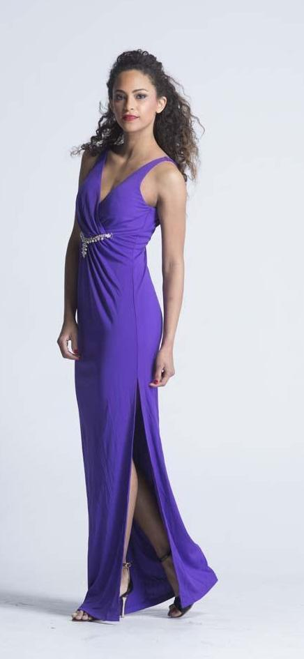 Jiali Vern 'Enchanted Violets' Evening Gown - Women Dresses - yz-buyer.myshopify.com