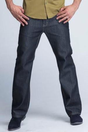 Kayden.K California Loose Fitted Jeans - Black With Off-white Thread Lining - Mens Jeans - yz-buyer.myshopify.com