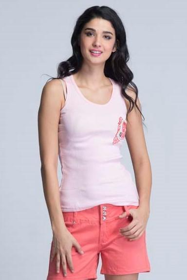 Laguna Beach Sleeveless Sports T-Shirt - Lemonade Pink - Women T-Shirts - yz-buyer.myshopify.com