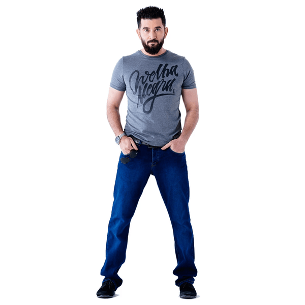 Mens Grey Short Sleeves Graphic Printed Tees - Emperor