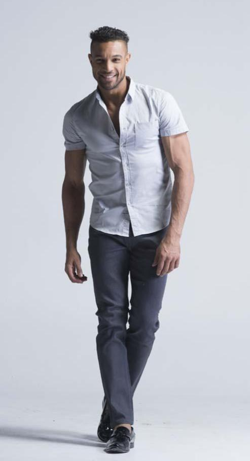 Good quality Smart/Formal Short Sleeve Shirt - Cloud Grey - Men Shirts - yz-buyer.myshopify.com