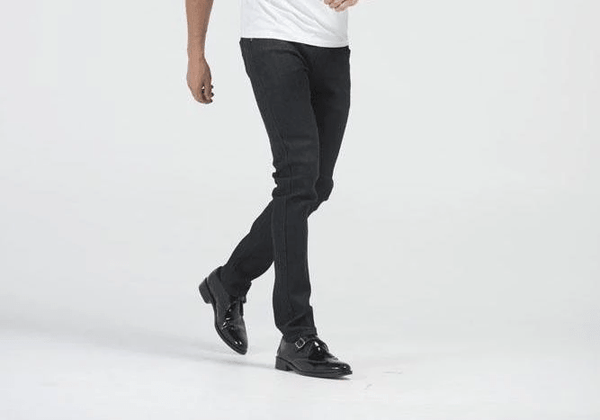 Kayden. K Black Men's Black Skinny Raw Denim Jean Pants
