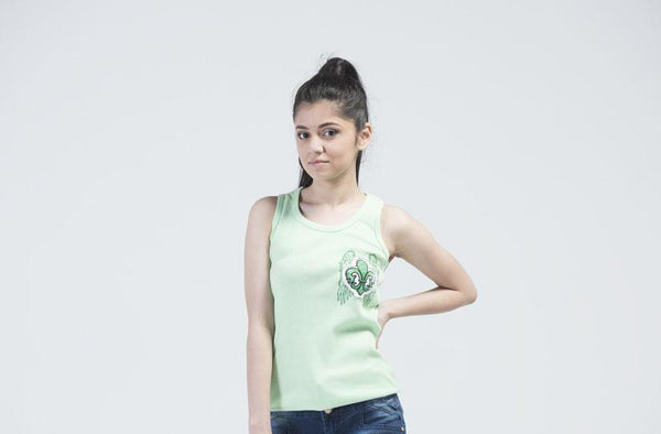 Laguna Beach Sleeveless Sports T-Shirt - Mint Green