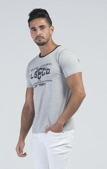 Casual Dress Grey & Black Men's T-Shirts