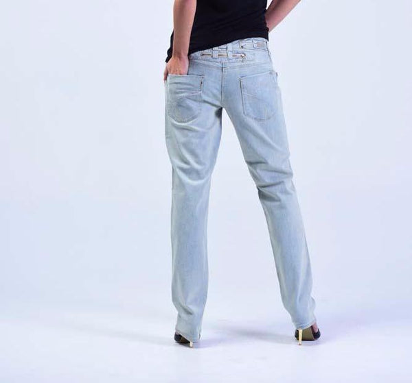Top British Brand OEM Worn-out Skinny-fit Women Jeans - Baby Blue - Women Jeans - yz-buyer.myshopify.com