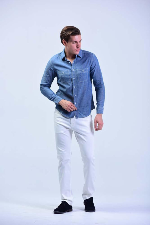 Soisam Smart Casual slim-fit Full Sleeve Shirt - Men Shirts - yz-buyer.myshopify.com
