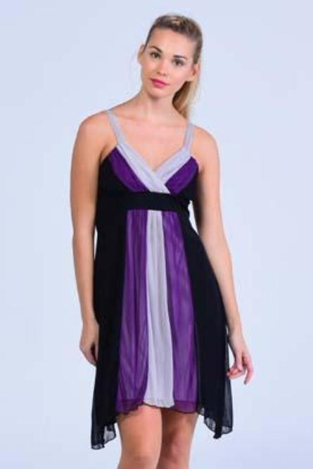 La Bella Violet Asymmetric Hem Formal Dress - Women Dresses - yz-buyer.myshopify.com