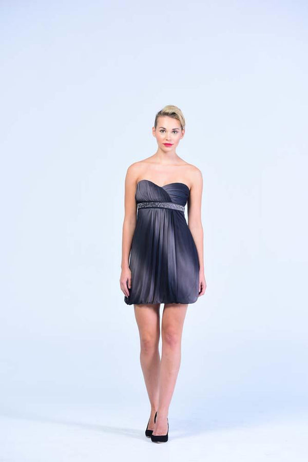 Trixxi Black & Charcoal Balloon Dress - Women Dresses - yz-buyer.myshopify.com