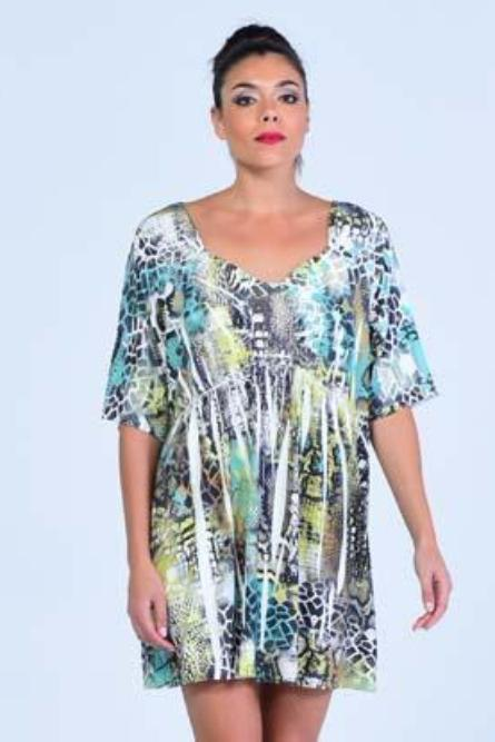 Unity World Wear Abstract Print Short Dress - Women Dresses - yz-buyer.myshopify.com