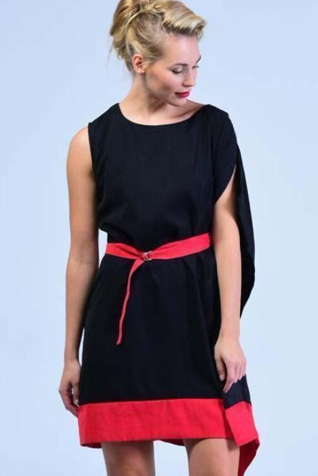 Karen Millen Black & Red Formal Dress - Women Dresses - yz-buyer.myshopify.com