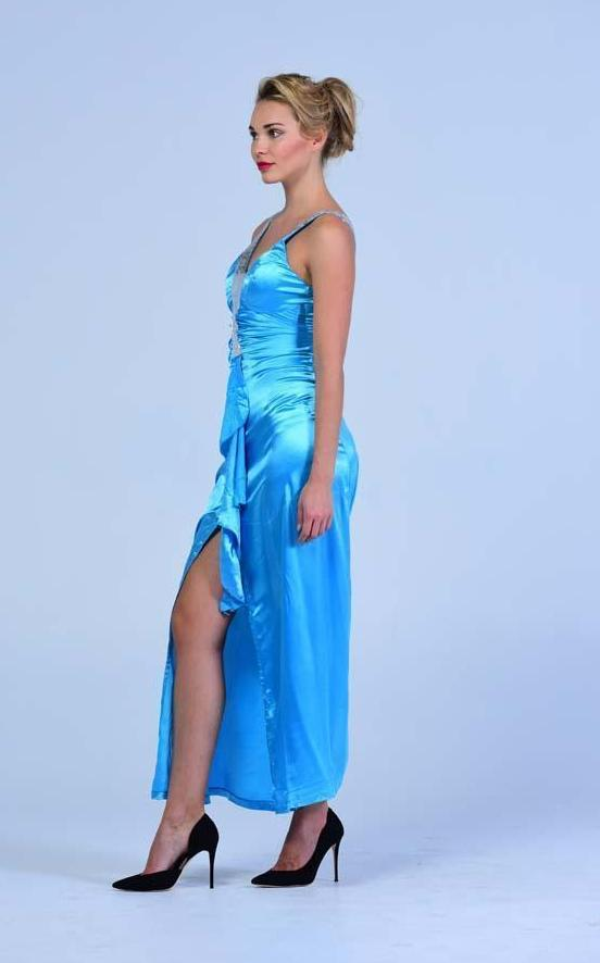 'Walk In the Sky ' Front Slit Evening Dress - Women Dresses - yz-buyer.myshopify.com