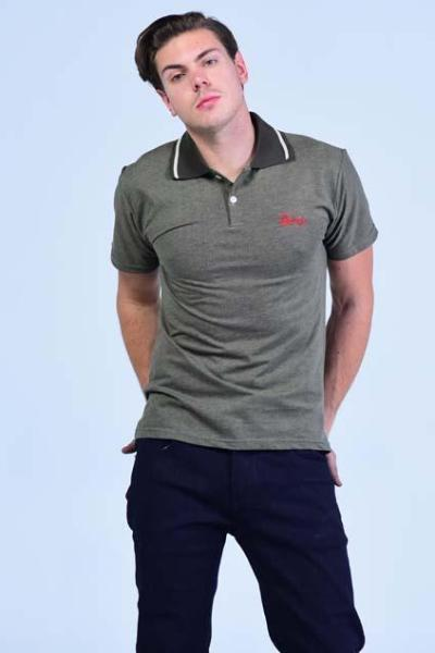 Classic Antique Bronze Polo Collared T-Shirt - Birdseye Weaved Cotton - Men T-Shirts - yz-buyer.myshopify.com