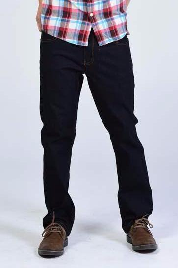 Victorious Slim fit Jeans - Navy Blue with timber color threads - Mens Jeans - yz-buyer.myshopify.com