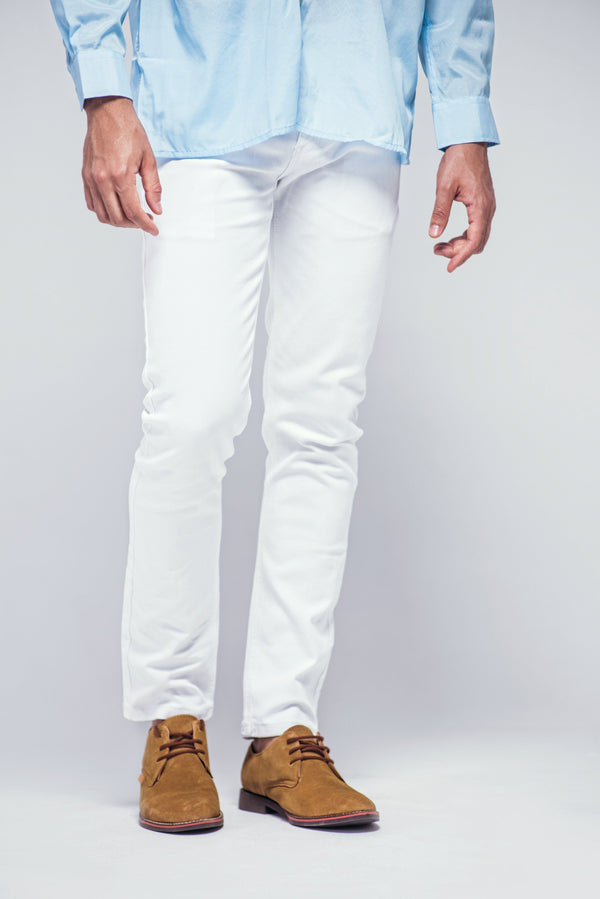 YZB Slim Fit White Jeans - Mens Jeans - yz-buyer.myshopify.com