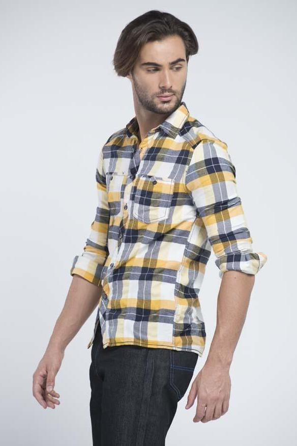 Double stitched Casual Check Shirt - Men Shirts - yz-buyer.myshopify.com