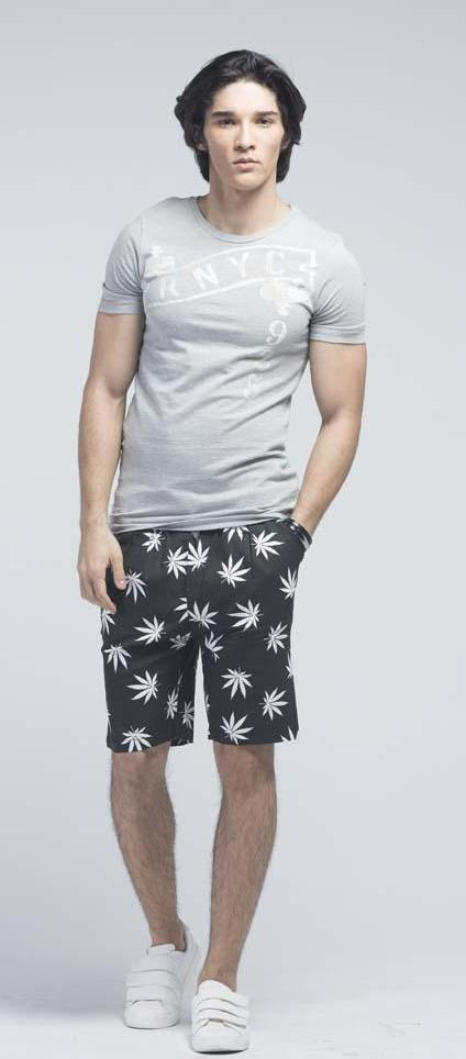 Maple Printed Running Bermudas with drawstring - Men Shorts - yz-buyer.myshopify.com