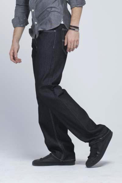 Kayden.K - California loose fit jeans Black with White Threads - Mens Jeans - yz-buyer.myshopify.com