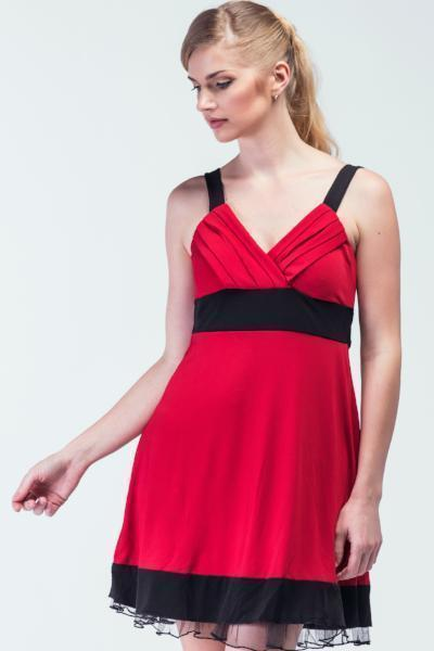 Ferrari Red & Black Cocktail Dress - Women Dresses - yz-buyer.myshopify.com