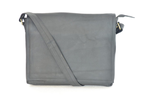 YZBuyer 100% Pure Leather Laptop Bag - Grey
