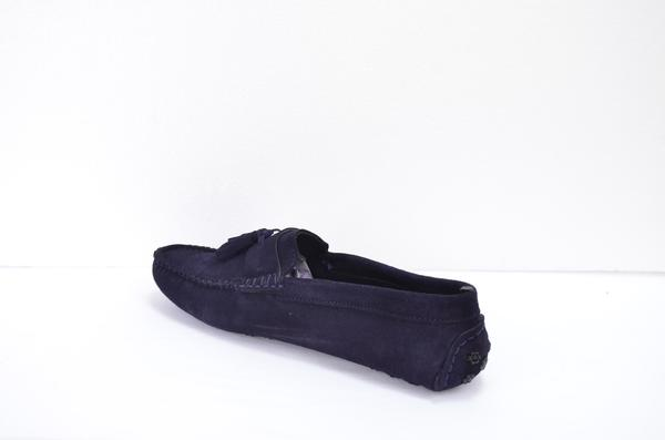 Leather Loafer Blue Shoes