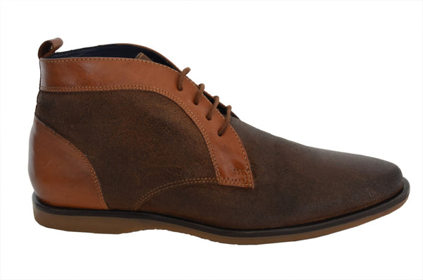 YZFeet Mens Casual Leather Shoes - Rough Look