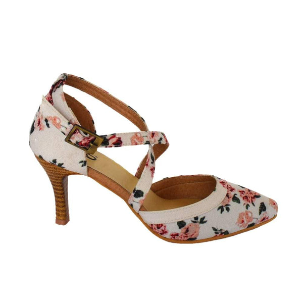 Floral Heels Sandal Footwear for Women