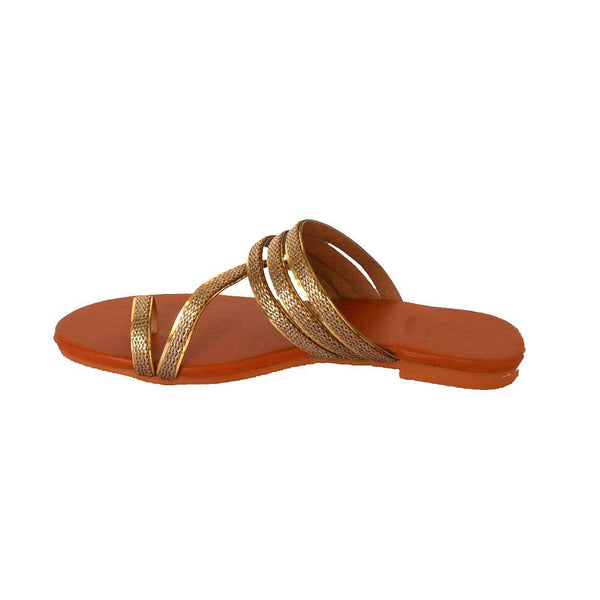 Golden One Toe Flats