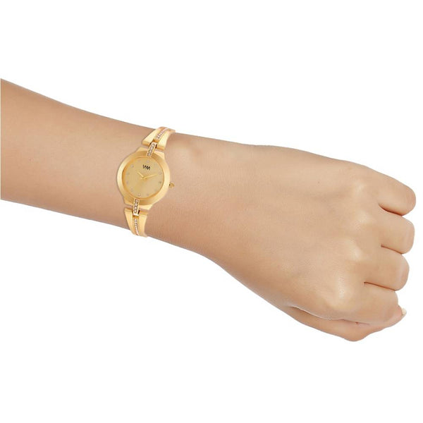 Gold Dial Gold Stainless Steel Strap Watch  for Women and Girls