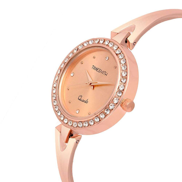 Gold Dial With Gold Stainless Steel Strap Branded Analog Watch for Women