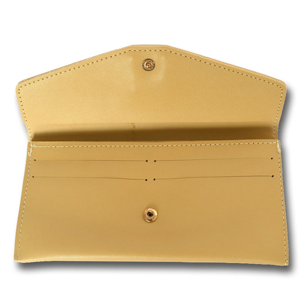 Gold Solid Leather Women's Wallet