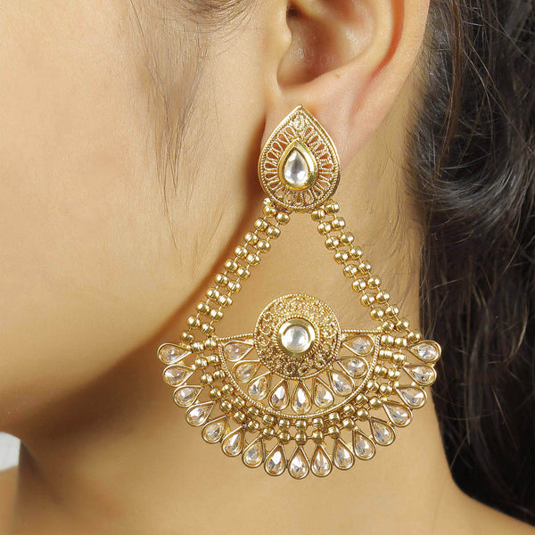 Golden Color Earrings  For Women