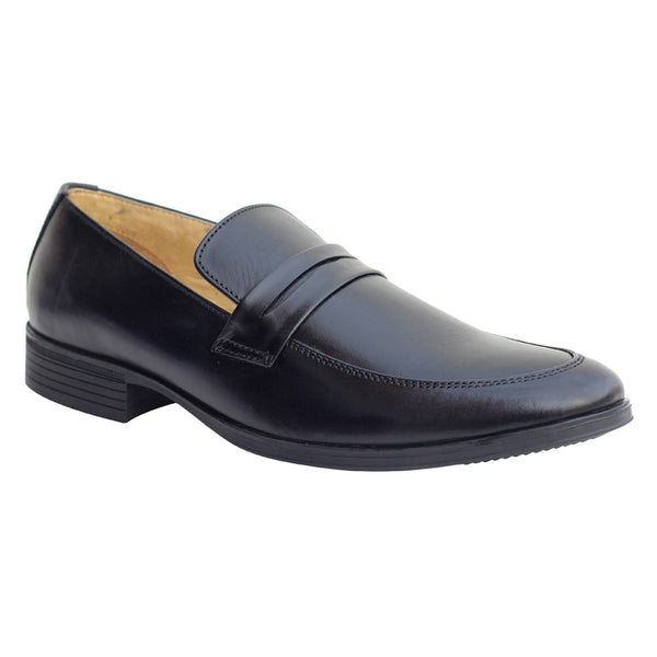 Black Genuine Leather Moccasin Shoes