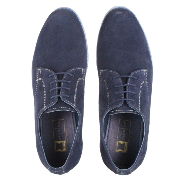 Men's Blue Full  Leather Casual  Shoes