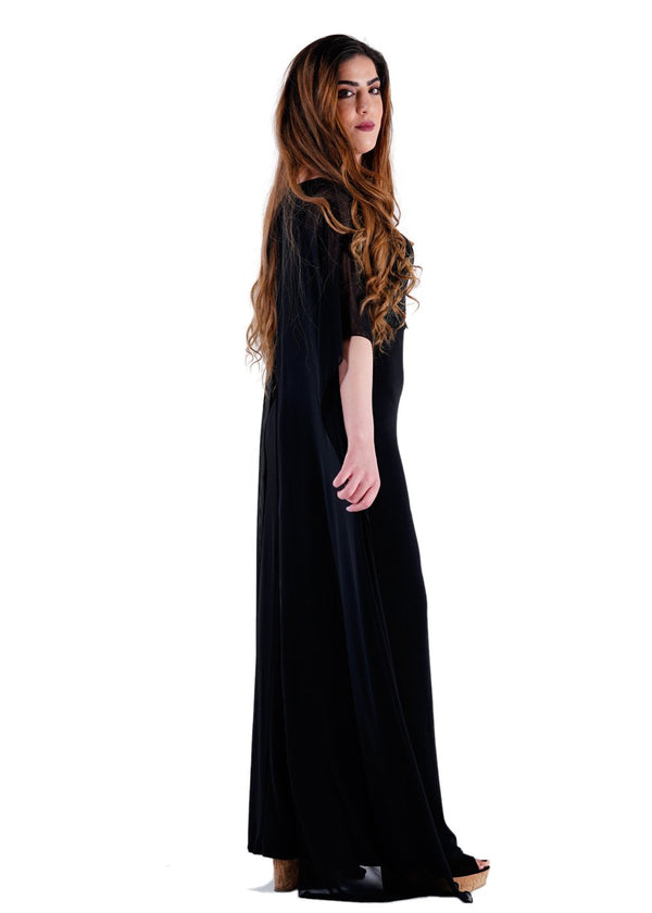 Ladies Black Regular Fit Maxi