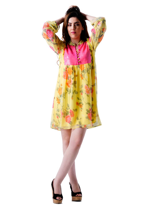 Ladies Full Sleeves Floral Print Dress
