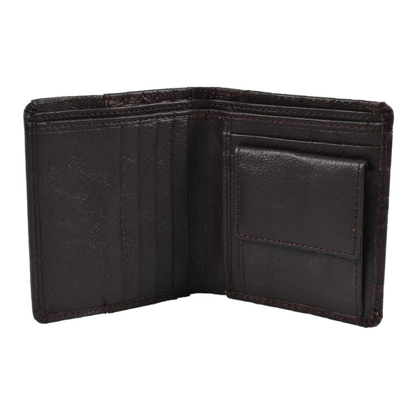 Brown textured wallet