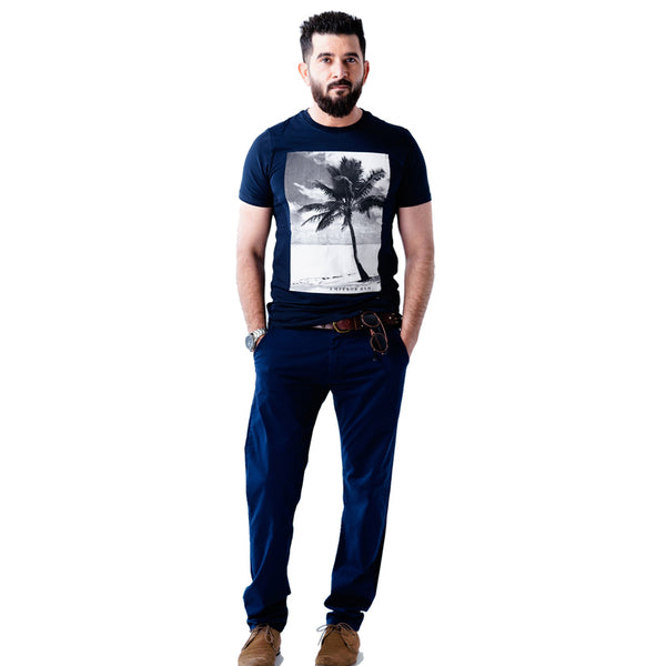 Mens Black Short Sleeves Graphic Tees - Emperor