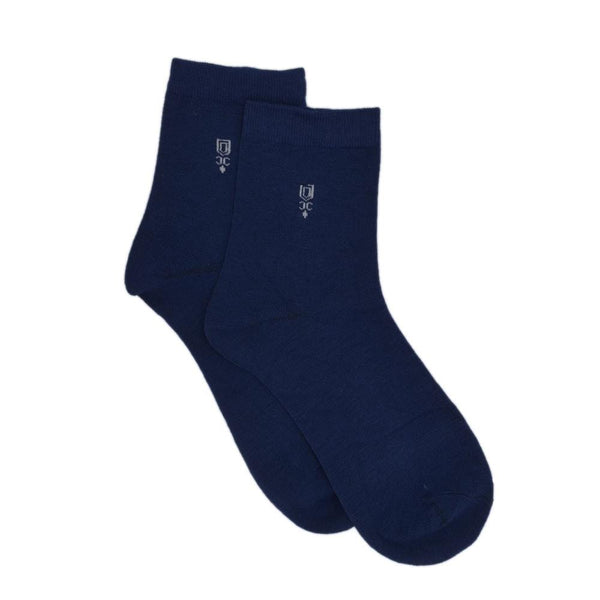 Men Blue Solid Above Ankle-Length Socks