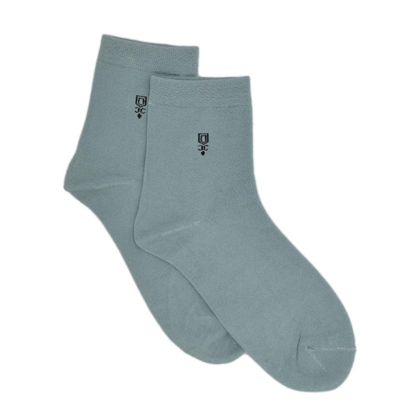 Men Green Solid Above Ankle-Length Socks