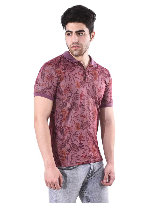 Men's Burgundy Short Sleeves Tees