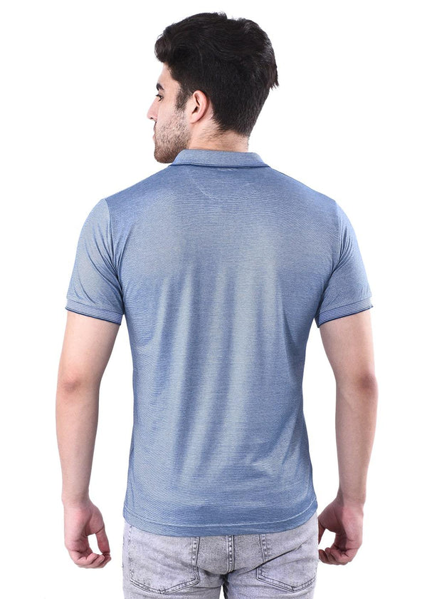 Men's Navy Light Blue Short Sleeves Tees