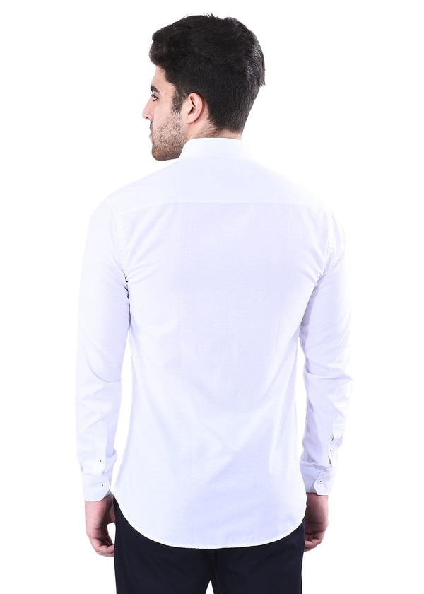 Men's White Full Sleeves  Shirt