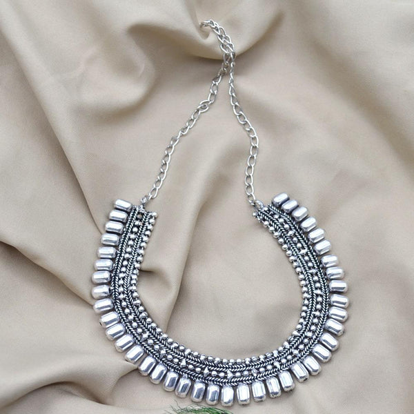 Oxidised German Silver Necklace for Women & Girls
